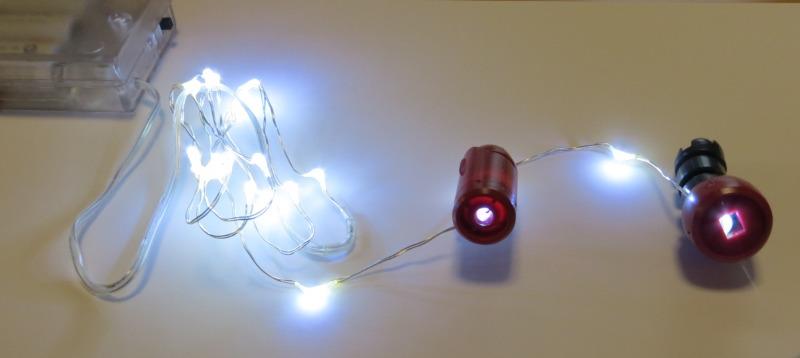 LEDストリング仮組:HGズゴックの腕とバックパック