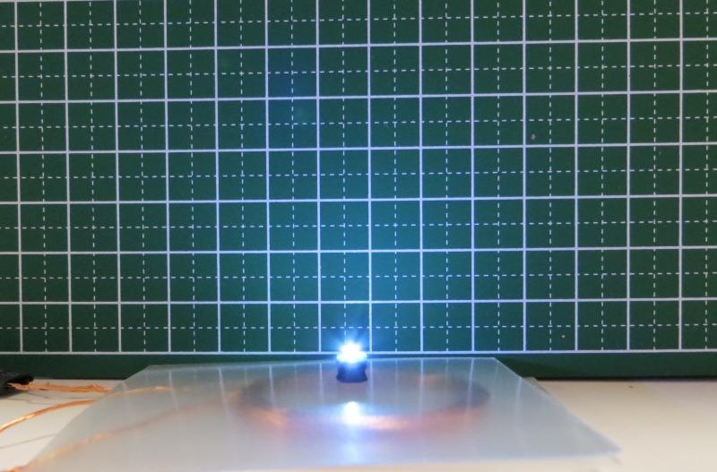 ワイヤレスLED給電ユニット2個:明るい組み合わせ