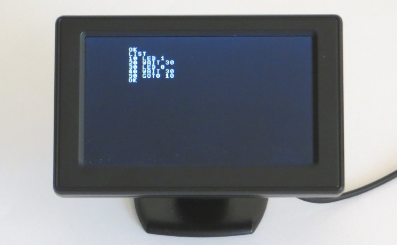 IchigoJamでLEDの点灯、消灯を繰り返すプログラム