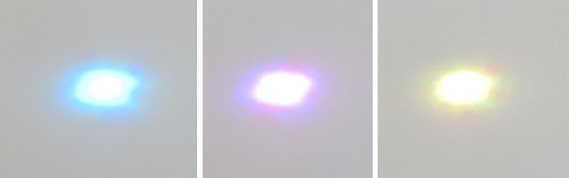 フルカラーLEDの3色中2色を同時に点灯させた場合