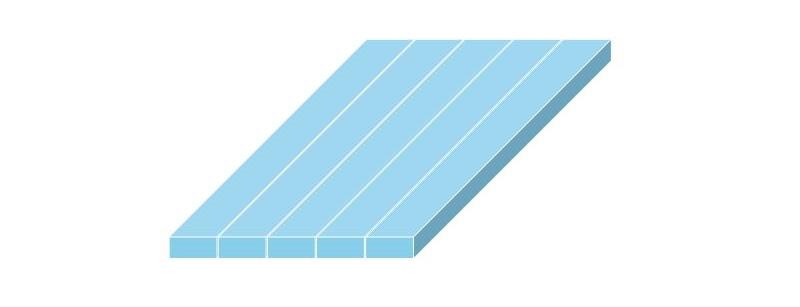 合成木材製の板材の設置イメージ