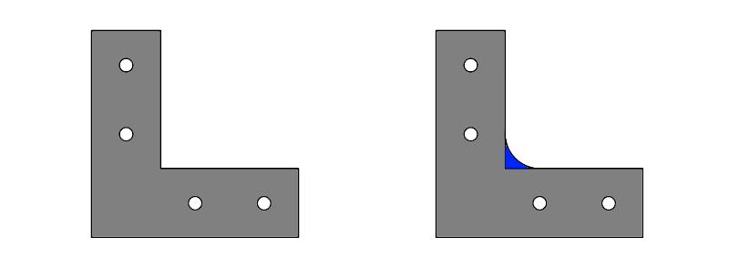 L字金具のR部分