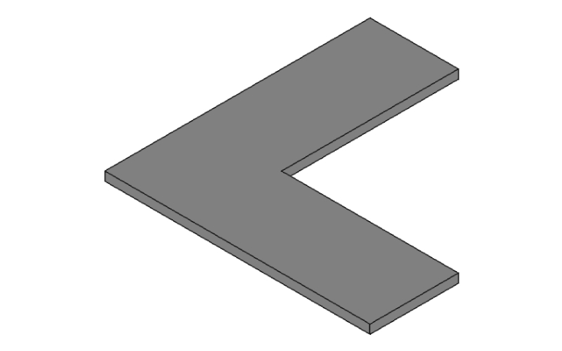 L字金具の3Dモデル