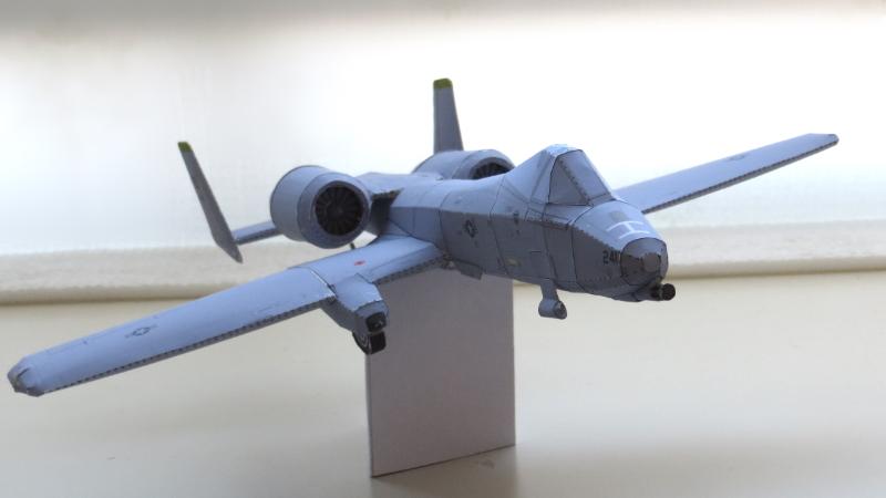 A-10サンダーボルトのペーパークラフト