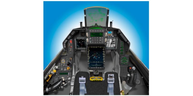 F-16 Block 70/72 センター・ペデスタル・ディスプレイ(CPD)