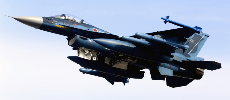 F-2:空対艦ミサイル4発搭載状態