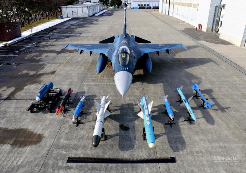F-2:搭載可能なミサイルや弾薬