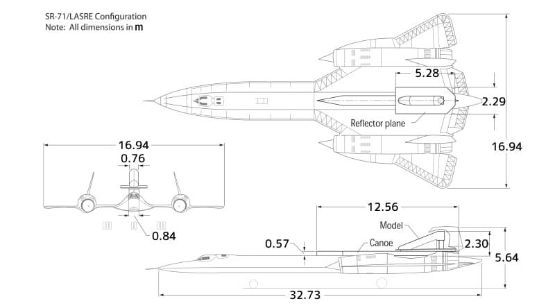 SR-71(LASRE搭載時)の略図