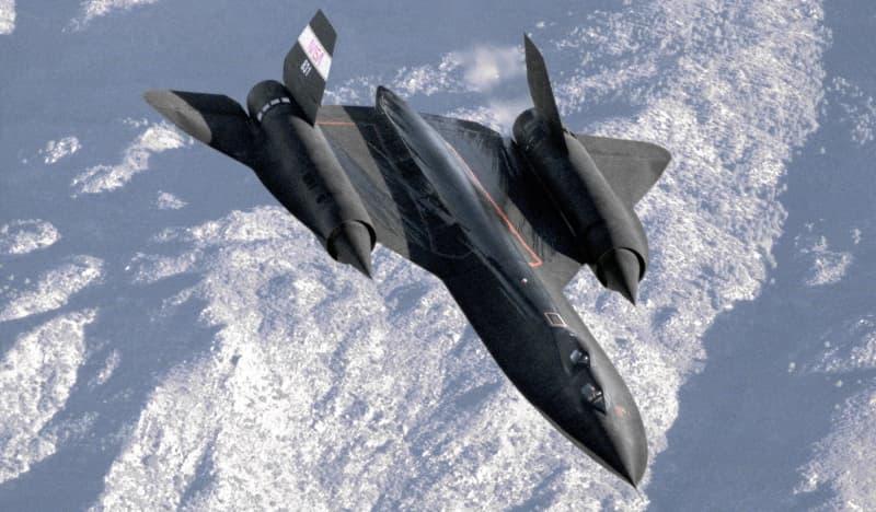 飛行中のSR-71