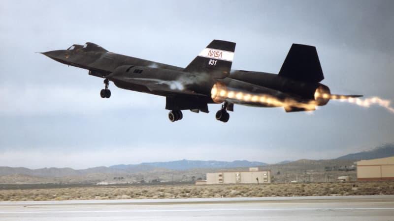 SR-71離陸時:アフターバーナーON