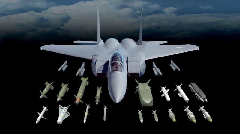 F-15Eに搭載できる武装のイメージ図