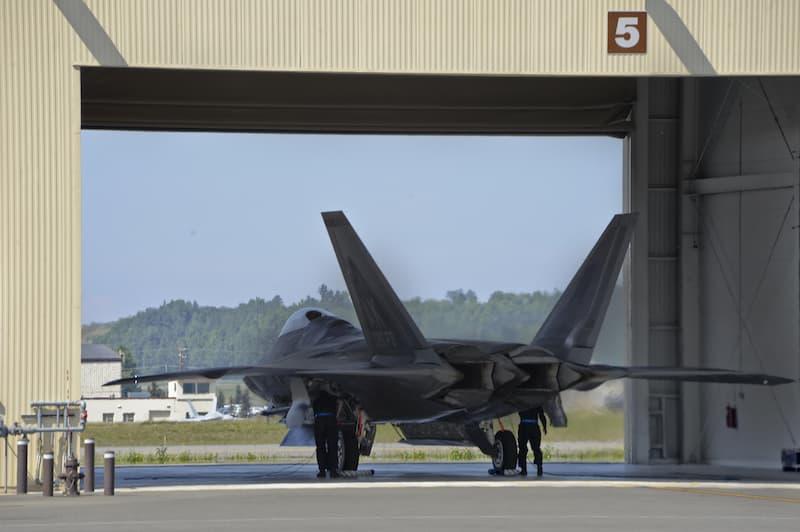 F-22:機体後方(スラスト・ベクトル・ノズル)