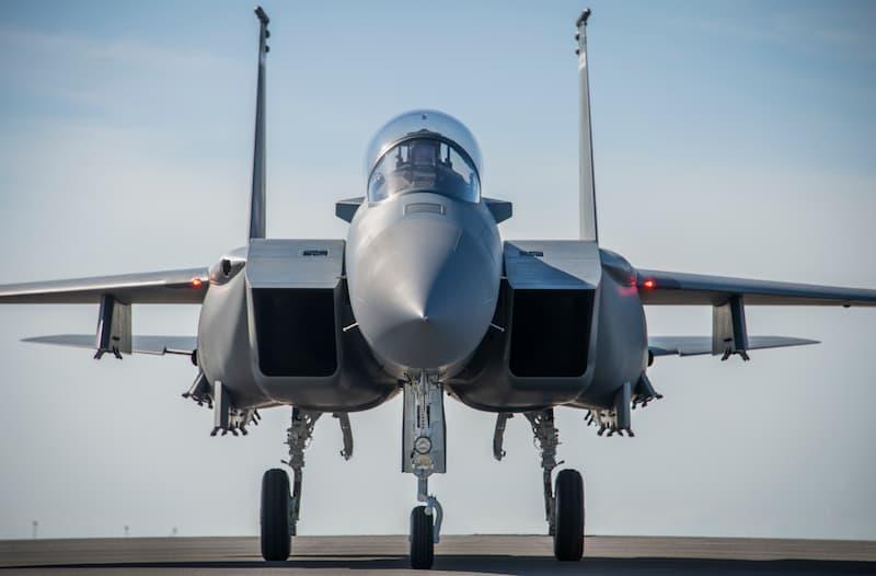 F-15EXイーグルII正面:F-15EX arrives at Eglin