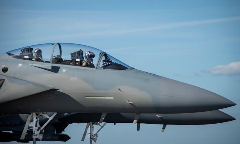 F-15EXイーグルII機首:F-15EX arrives at Eglin