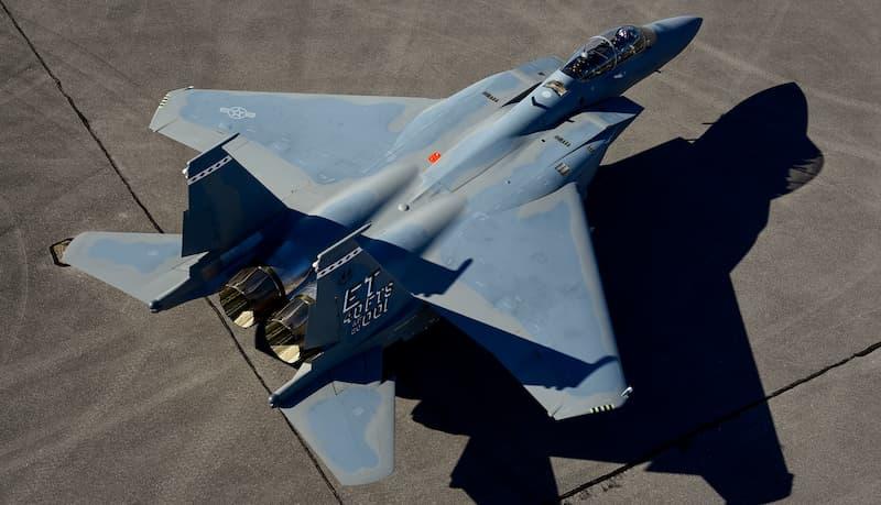 F-15EXイーグルII上面:AF's first F-15EX arrives at Eglin