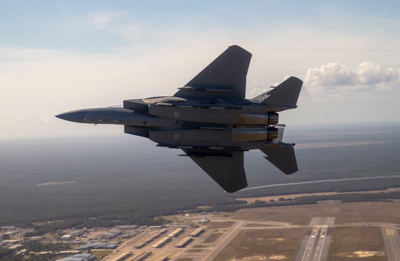 F-15EXイーグルII下面:AF's first F-15EX arrives at Eglin