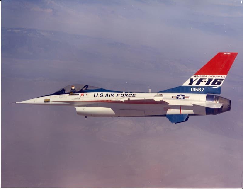 YF-16:YF-16 flies in 1974
