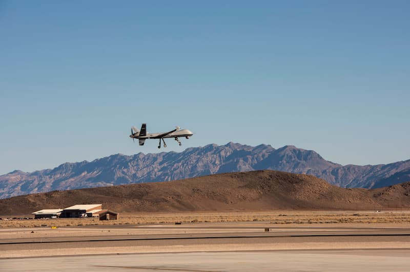 MQ-9:556th TES successfully launch, land first Creech AFB ATLC test