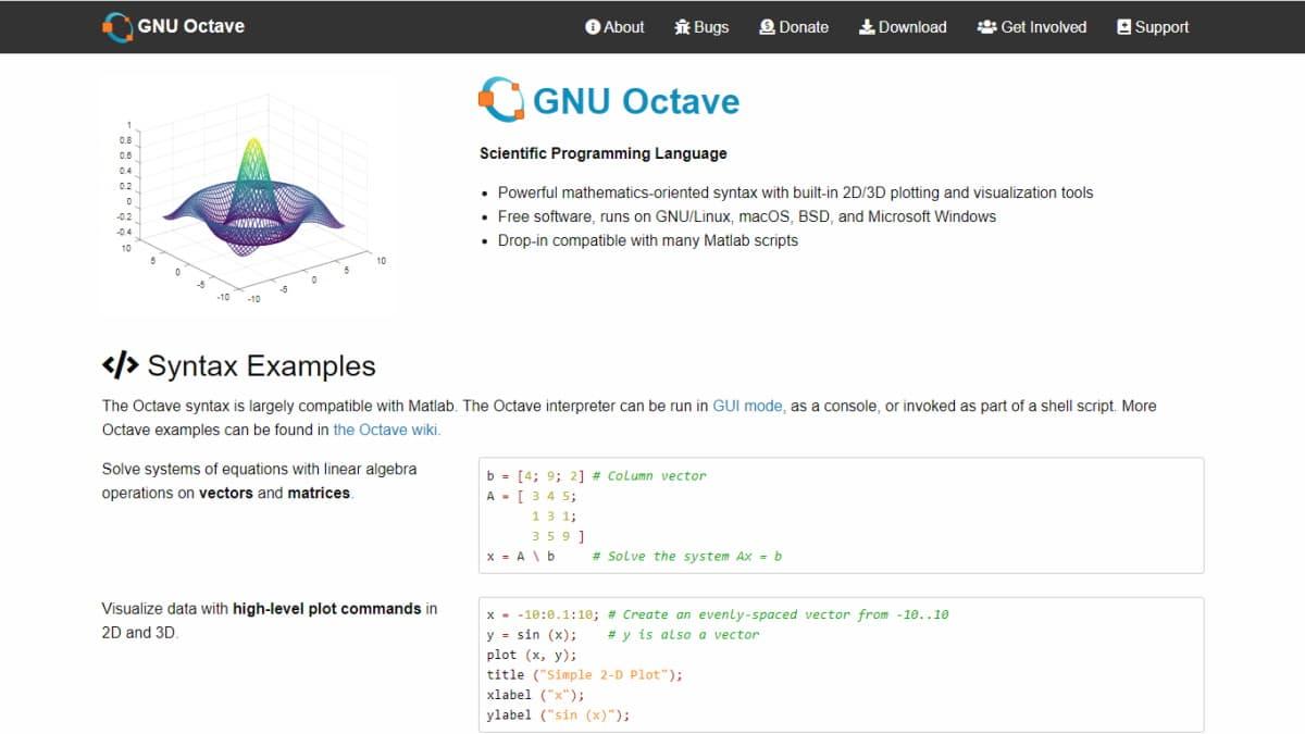 GNU Octave 6.2.0 Released(2021.2.20)